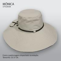 4387 - Chapéu aba larga dupla face Mônica
