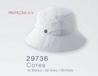 7266 - Chapéu de tecido aba curta c/ proteção UV
